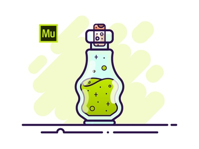 14 Potion Bottle - Adobe Muse