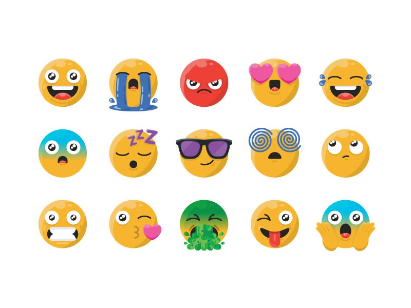 Emoji's emojiexperts lol confused grin smile angry icon a day cute design art vector graphic design emojis emoji set vector artwork illustration flat icon icon design emoji