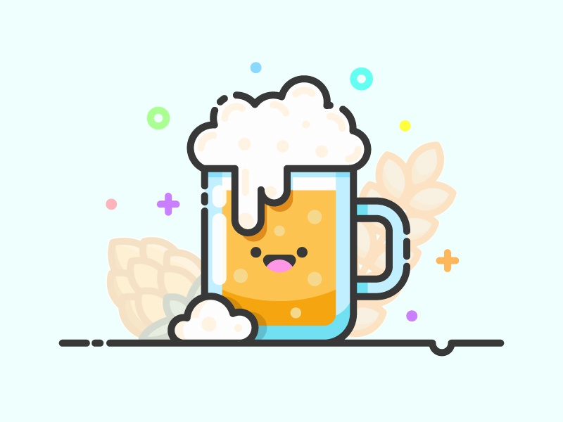 Beer Kawaii Icon mug alcohol icon artwork icon a day drink beer beer icon vector artwork line art kawaii cute adobe illustrator design sticker art graphic design flat vector icon illustration