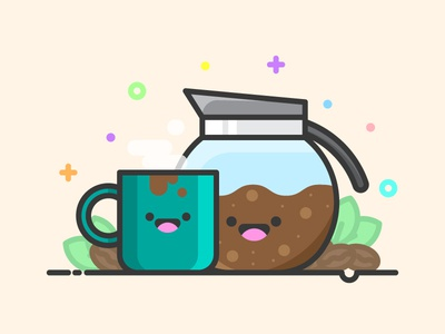 Coffee Kawaii Icon