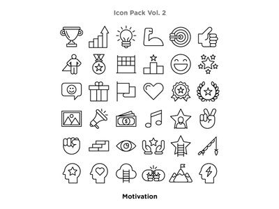 Vol. 2 - Motivation Icon Pack