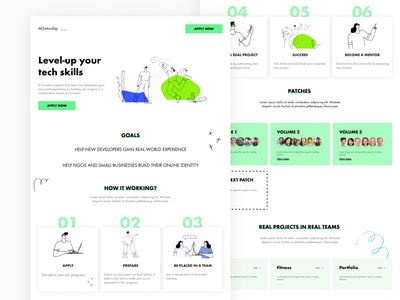 M3ntorship Home projects team journey learning developers mentors design ui ux uiux product design