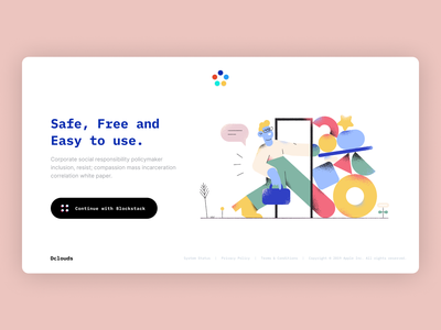 Dclouds Login Page product page login blockstack