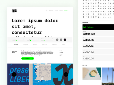 Typeface - Protype project protype download slider tester website uiux ux ui design product design typeface design typeface