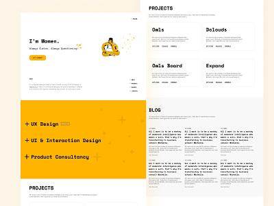 Personal Portfolio portfolio design portfolio site designer momen product design design ux uxui projecs blog simple portfolio ui simple illustration simple design portfolio simple