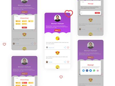 OWLS Board app uxui product design uiux posting ux love design compliments board