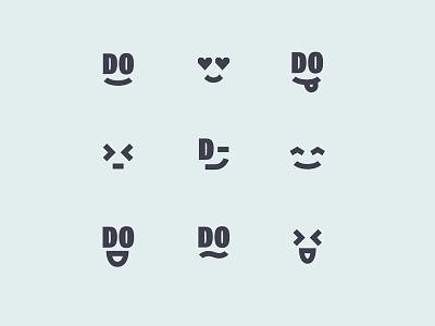 DoGood, logo variation slow green emotions good do branding smile identity logo