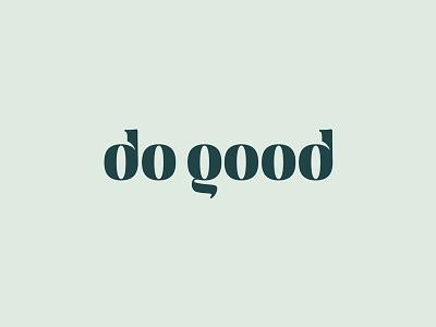 DoGood, logo design typography green good do identity branding logo
