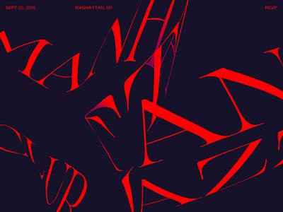 Manhattan Jazz Club typography website design type warmup
