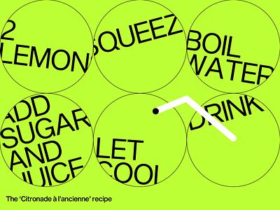 Citronade à l'ancienne recipe design graphic lemonade citronade poster recipe