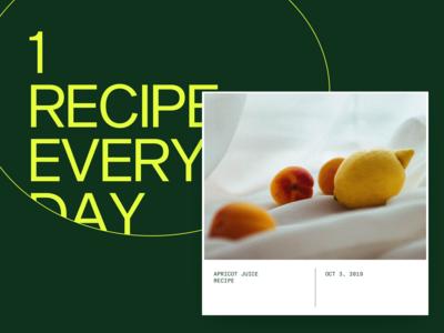 One recipe everyday
