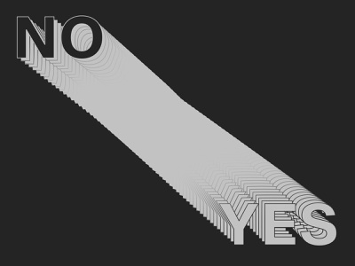 Yes No illustrator blend type no