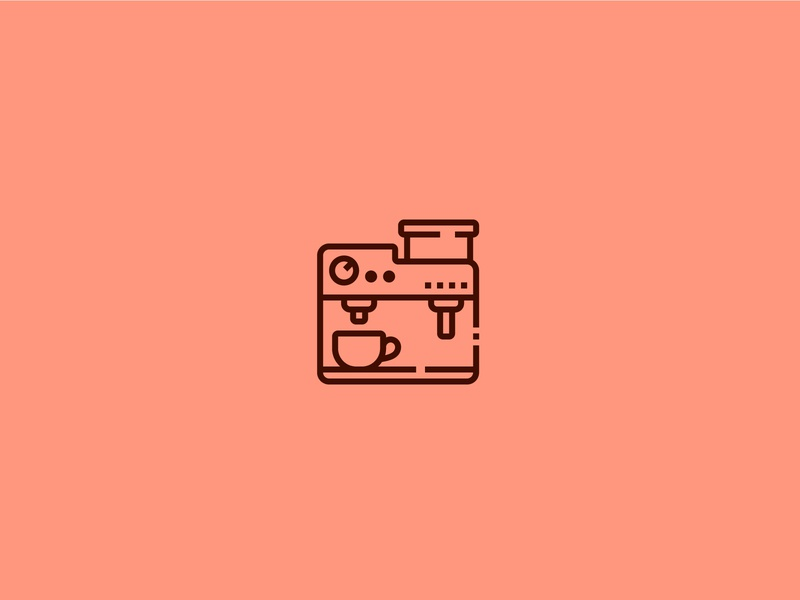 Coffee Machine Icon coffee cup orange icon design perfect pixel icons color cafe morning coffeeshop coffee machine machine love coffee
