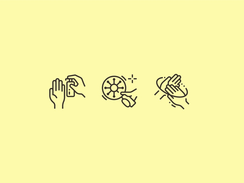 Hand hygiene icons icons perfect pixel icon coronavirus search bathroom health virus water hands clean hygiene hand