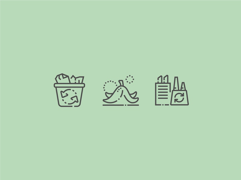 Trash and ecology icons design perfect pixel icon recycle ecosystem pollution energy recycling nature green environment ecology ecologe eco trash