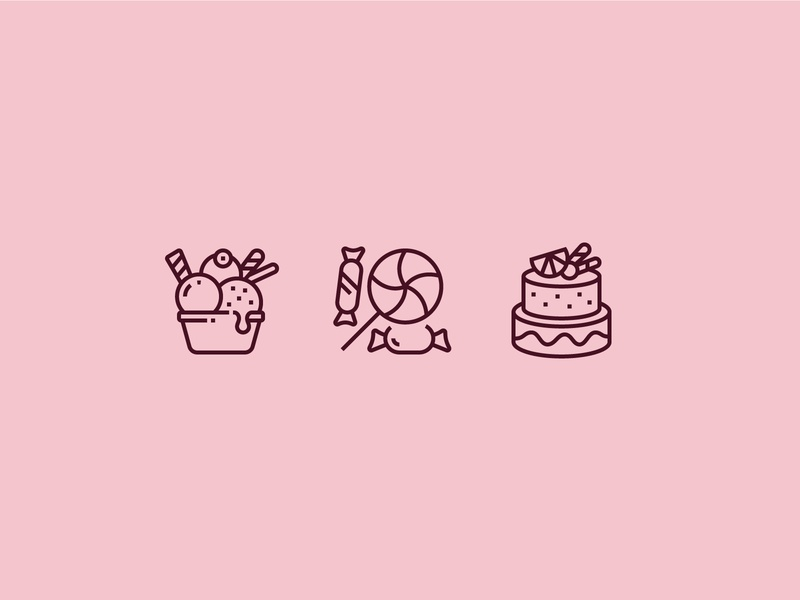 Sweetest Day Icons graphic perfect pixel icons icon gift october usa holidays holiday celebrate pie icecream ice candy sweet sweetest