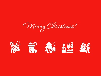 Merry Christmas icon illustration design icons perfect pixel christmas party celebration fun gifts new year celebrate holiday christmas merry winter