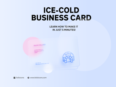 Ice cold business card illustration blue village igloo perfect pixel icon icons business card design businesscard business design card cold ice