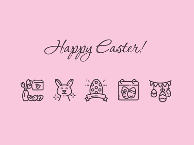Happy Easter icon calendar perfect pixel design vector egg easter egg easter bunny spring april holiday icons free icon easter happy
