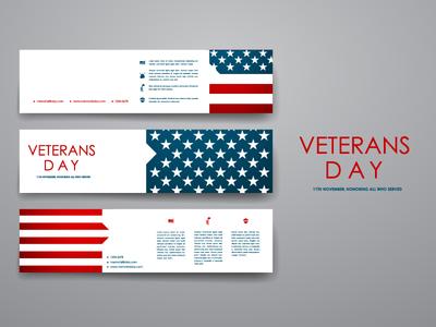 Veterans day. Banner Templates