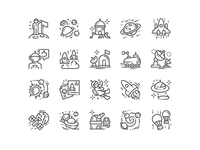 Space Exploration Icons exploration space web svg simple pixel perfect icons design icon