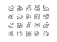 Traffic Jams Icons