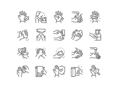 Hand Hygiene Icons