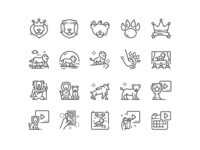 Lion Leader Icons