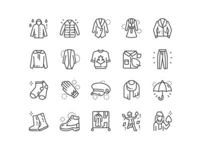 Autumn clothes Icons