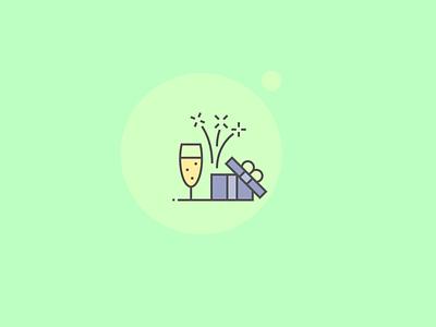 Celebration Icons design icons perfect pixel icon firework gift birthday celebrate fun party celebration