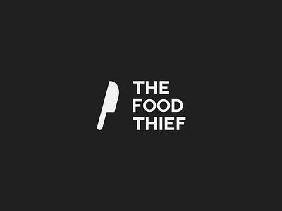 The Food Theif. logo simplistic minimalistic theif food