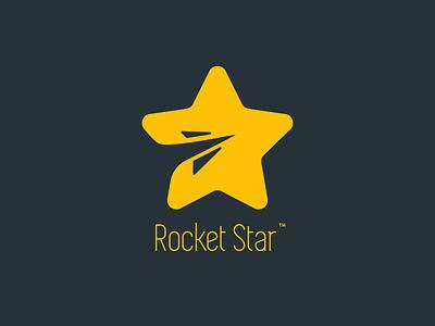 Rocket Star 2d logo illustrator travel space star rocket