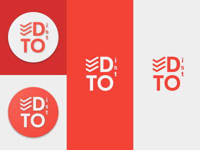 Todoist Logo Concept. concept logo material todoist