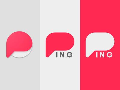 Ping wip concept branding logo ping