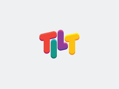 Tilt Logo fun logo game card