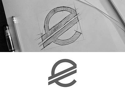 M€M€ Logo euro logo concept sketch