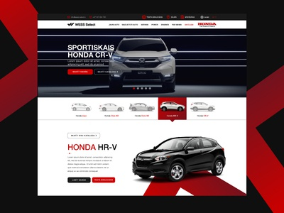 Honda Dealership Website honda icons buttons header menu tabs website dealership car