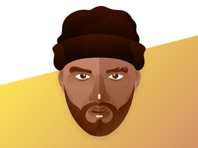 Joyner Lucas Portrait battle nose eyebrows eyes music skully beanie hat beard hiphop rapper joyner joyner lucas illustration illustrator portrait