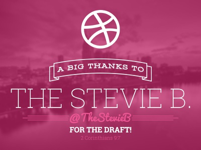 Thank You! debut first shot invite thank you thestevieb