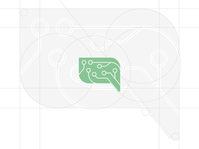 Brand Icon Design for a Client branding identity technology leaf letter a communication talk bubble logo icon