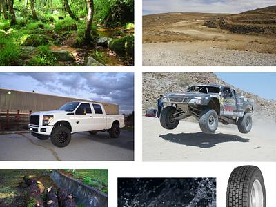 Offroad Composite offroad composite transition truck f-250 baja 4wd 4x4 desert rain trade show banner