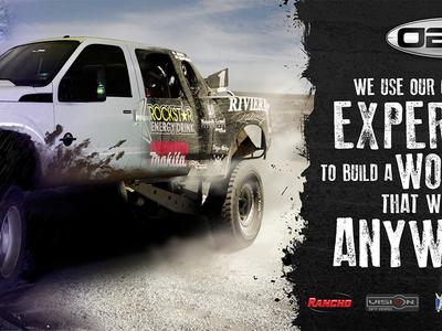 Offroad Composite Final offroad composite transition truck f-250 baja 4wd 4x4 desert rain trade show banner