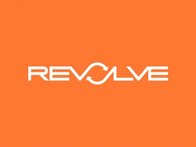 Revolve Brand Design logo typography branding identity orange recycling junk removal atlanta lettering revolve