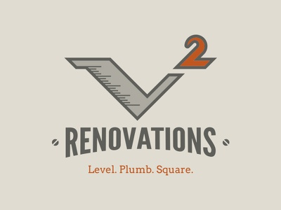 V Squared Renovations Branding branding identity logo vintage georgia carpentry woodworking craftsmanship renovations v squared ruler