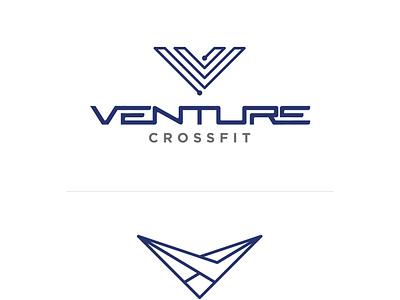 Venture CrossFit Branding branding identity logo illustration crossfit muscle strength v stretch circuit venture