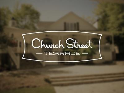 Church Street Terrace Branding branding identity logo typography lettering southern vintage charming nostalgic church street terrace