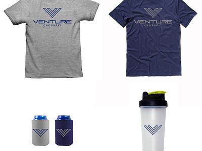 VCF - Final Branding branding identity logo illustration crossfit muscle strength v stretch circuit venture