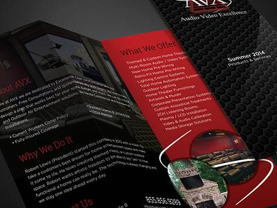 AVX Brochure print brochure audio video excellence avx atlanta ga home theater