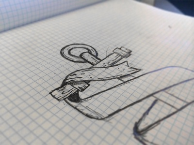 Southern Side Apparel Branding (WIP) branding identity southern anchor south rustic sketch logo wip