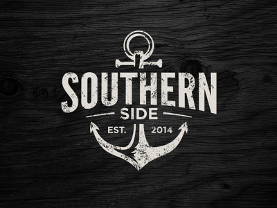 Southern Side Branding (Final) branding identity southern anchor south rustic distressed wood vintage